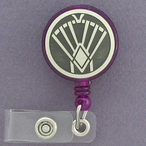Art Deco Fan ID Badge Holders