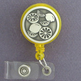Lemon Lime Badge Holders