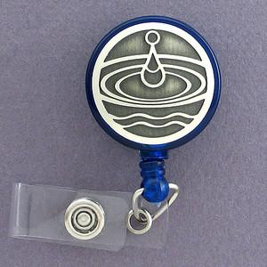 Water Drop ID Badge Holders