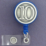 10th Retractable I.D. badge holder reels are customized just for you.