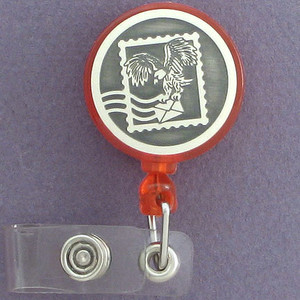 Postage Stamp ID Badge Holders
