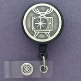 Fun TV Set Retractable ID Badge Holder