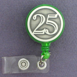 25th Name ID Badge Retractors