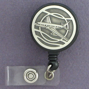 Jet Airplane ID Badge Holders