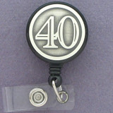 40th ID Badge Retractable Cord Reel