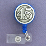 Personalized Lucky Number 45 ID Badge Holder Reel
