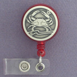 Unique Crab Retractable ID Badge Holder Reel
