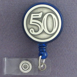 50th Retracting ID Name Badge Holders