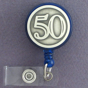 50th Retracting ID Name Badge Holders