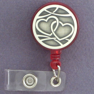 In Love Interlocked Hearts ID Badge Holders
