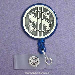 Dollar Money Sign ID Badge Holders