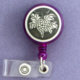 Grape Bunch Retracting Name ID Badge Holders