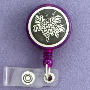 Grape Bunch Retracting Name ID Badge Holders