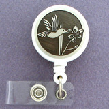 Hummingbird Pull Out Cord ID Badge Holder