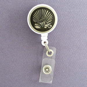 Personalized Seashells Retractable Name Badge Holder Reel