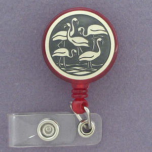 Flamingo ID Badge Holders