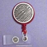 Unique Skiing ID Badge Holder Reel