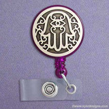 Cool Hamsa Hand Retractable Name Badge Reels