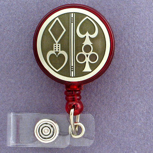 Cool Poker ID Card Retractable Badge Holders
