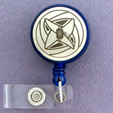Jewish Star Of David Badge Holder Retractable ID Name Card Reel Lanyard Judaica