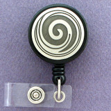 Swirls and Curl ID Badge Holders