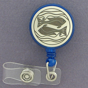 Swimming Fish ID Badge Holders