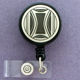 Milano Modern Art Retractable ID Badge Holder Reel