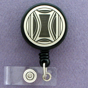 Milano Modern Art Retractable ID Badge Holder Reel