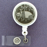 Unique Panda ID Badge Holder Reel