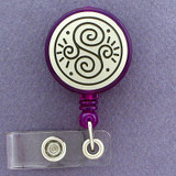 Decorative Vine Retractable ID Badge Holder Reel