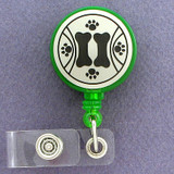 Dog Paw Print Security ID Card Badge Reels