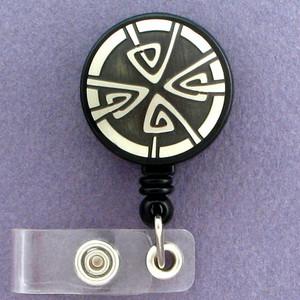 Art Nouveau Retractable I.D. Name Badge Holder Reel