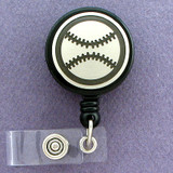 Baseball Retractable ID Name Badge Holders