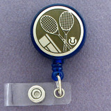 Tennis Retractable ID Badge Holder Reel