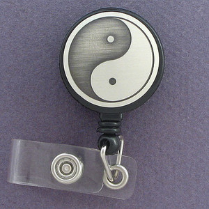 Yin Yang Name ID Badge Holders