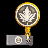 Maple Leaf Retractable Name Badge Holders