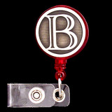 Monogrammed Letter B Retractable ID Card Holders
