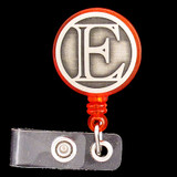 Monogram Letter E Pull Out Name Badge Holders