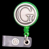 Monogrammed Letter G Retractable ID Badge Holder