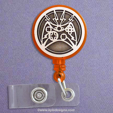 A Pharmacy Silver Retractable Badge Reel Id Tag Holder by Geek Badges What do I Look Like