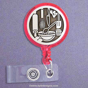 Baking Retractable ID Badge Holder