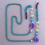 Silver & Turquoise Beaded Eyeglasses Chain