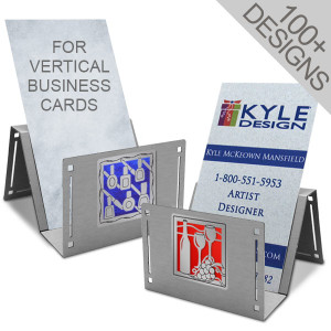 vertical business card holder for reception - Vertical Business Cards