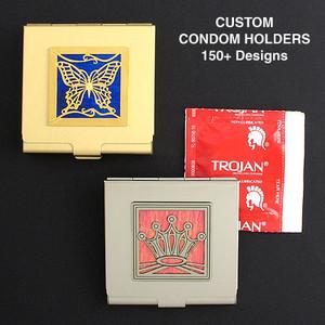 Metal Condom Case for Purse or Pocket