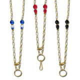 Gold Beaded Necklace Lanyards or Eyeglass Holder Chains