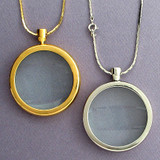 Classic Magnifying Glass Necklaces - Silver or Gold