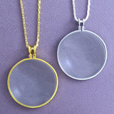 Small Magnifying Glass Necklace - Silver or Gold