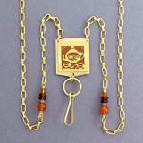 Teapot Beaded Necklace Badge or Eyeglasses Holder
