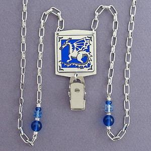 Dragon Beaded ID Badge Necklace or Eyeglasses Holder