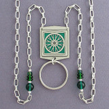 Bike Wheel Beaded Lanyard Necklace or Glasses Holder